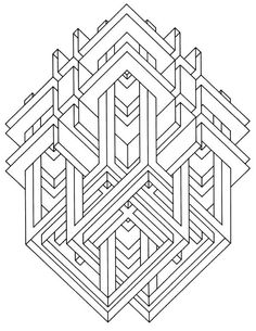 Geometric Shapes Cartoon Coloring Page | Geometry / Creative and ...