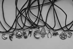 Most popular tags for this image include: necklace, grunge, sun, moon and