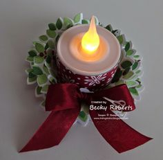 Inking Idaho: Wondrous Wreath Tea Light