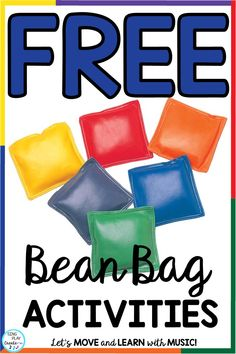 Bean bag games and activities can grab your students attention, help you teach a lesson, and keep your students engaged. Get free bean bag games from Sing Play Create. Music Education Activities, Physical Education Games, Classroom Activities, Health Education, Special Education, Preschool Movement Activities, Preschool Music Lessons, Texas Education, Classroom Freebies