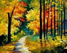 Woodlands by Leonid Afremov by Leonidafremov.deviantart.com on @DeviantArt