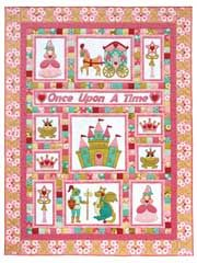 """Once Upon a Time Quilt Pattern from Anniescatalog.com -- Pattern includes full-size applique pieces that are already reversed and ready to go. Easy-to-follow instructions. Finished size is 63"""" x 83""""."""