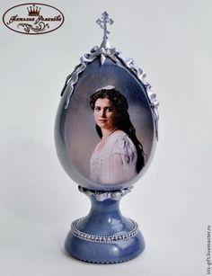 """Яйца ручной работы. Ярмарка Мастеров - ручная работа Декоративное яйцо """"Княжна Мария"""". Handmade."""
