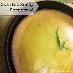 Skillet Honey Cornbread!  Did you know there are 2 different types of cornbread?  www.SweetDashofSass.com