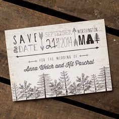 Rustic Save the Date Tree Save the Date  The by starboardpress
