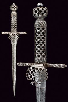 A dagger with pierced mounts  provenance:	 	France dating:	 	 first quarter of the 17th Century