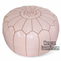 Amazon.com: Stuffed Moroccan Pouf, Pouffe, Ottoman, Poof, Color : Papaya Whip: Everything Else