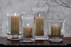 Never out of style, Simon Pearce best sellers are perfect choice every time.