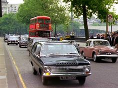 Victoria Embankment with Waterloo Bridge in the distance 1968 Rt Bus, Waterloo Bridge, London History, London Transport, Old London, Commercial Vehicle, Historical Photos, Britain, Classic Cars