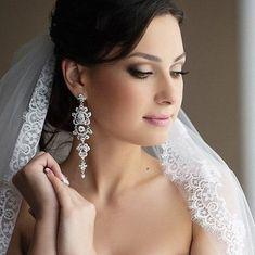 Piekne kolczyki ślubne i wieczorowe One Shoulder Wedding Dress, Diamond Earrings, Wedding Dresses, Jewelry, Fashion, Bride Dresses, Moda, Bridal Gowns, Jewlery