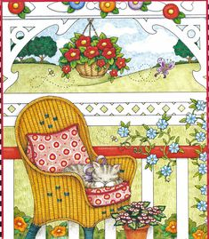 images about ~ Mary Engelbreit Mary Engelbreit, Naive Art, Pretty Pictures, Cat Art, Paper Dolls, Retro, Illustrators, Folk Art, Illustration Art