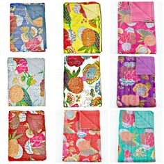 Wholesale SET OF 10 Kantha Quilt Sari Indian by BeingGypsy on Etsy, $279.99