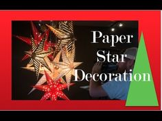 How to make a Christmas Star Chandelier - Christmas Decorations