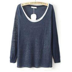 29,90EUR Pullover dünn blau mit creme