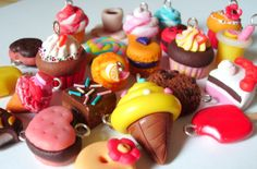 Huge lot of 20 charms cakes donuts cookies by WellDoneAccessorize, $45.00