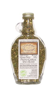 Pesto Garlic 9oz Bottle - Organic & Gluten Free Artisan Spice & Rub Blend by Made with Love Delectable Edibles on Gourmly