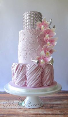 Jewels & Pink Lace Elegant Cake