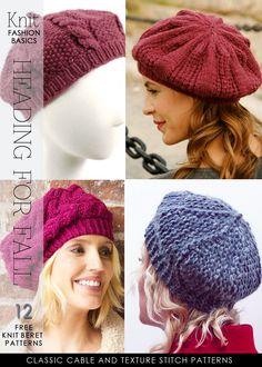 24 berets to knit and crochet - DiaryofaCreativeFanatic