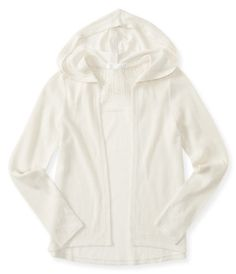 Kids' Lace Insert Hooded Drape Cardigan - PS From Aéropostale®
