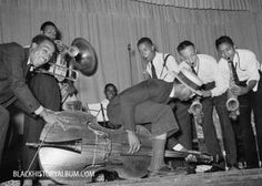 Jazz orchestra bringing down the house at the National Rice Festival, Crowley, LA, 1938.