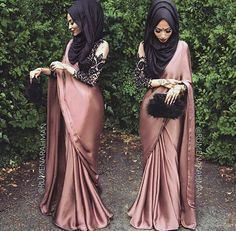 Saree and Hijab look                                                       …