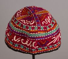 Vintage Central Asian Khorasan Hat 7 inches _ by SOrugsandtextiles