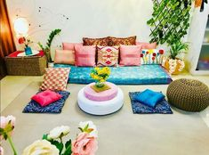 Top 5 Inexpensive Family Room ideas Some pink hues adorning my eclectic floor sitting area stacked with silk satin embroidered n velvet pink cushions . Indian Room Decor, Ethnic Home Decor, Living Room Seating, My Living Room, Living Room Decor, Indian Living Rooms, Colourful Living Room, Home Decor Furniture, Home Decor Bedroom