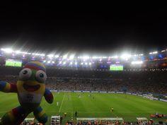 Nanjing Lele, Nanjing 2014 mascot, visits the #WorldCup! Read about @youtholympics football - http://fifa.to/1jEZbtC