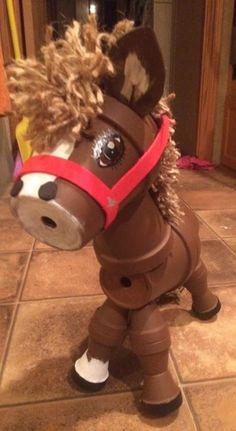 Clay pot terra cotta horse