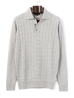 GLENFIELD - Merino wool cable knit long-sleeved knit