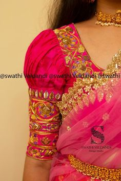 Global market Leader in Ethnic World, we serve End 2 End Customizable Indian Dreams That Reflect with Amazing Handwork & Unique Zardosi Art by Expert Workers Worldwide . Pattu Saree Blouse Designs, Designer Blouse Patterns, Fancy Blouse Designs, Bridal Blouse Designs, Blouse Neck Designs, Kurta Designs, Stylish Blouse Design, Lehenga, Work Blouse