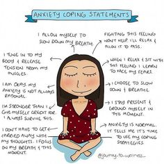 Anxiety Coping Statements Journey to Wellness Digital Anxiety Tips, Anxiety Help, Anxiety Coping Skills, Calming Anxiety, Cope With Anxiety, How To Manage Anxiety, Anxiety And Depression, Feelings, Messages