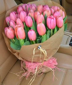Send Flowers for Girlfriend Online Pink Tulips, Tulips Flowers, Flowers Nature, Pretty Flowers, Beautiful Flowers Photos, Flower Photos, Amazing Flowers, Tulip Bouquet, Floral Bouquets