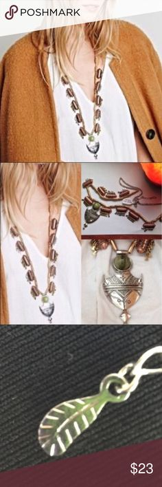 """Free People Southwestern Aztec Desert Necklace Free People overstock - No tags; but new- never worn.  Gold, copper, green & silver                                                               Length 22"""" - adj. chain 2"""".      Statement necklace in gold, silver, & copper gives you multiple options to wear with different looks.  Layer or wear alone. Free People Jewelry Necklaces"""