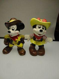 Mickey & Minnie Japan Figurines Mickey Mouse Figurines, Disney World Magic Kingdom, Animal Kingdom, Bowser, Japan, Antiques, Animals, Ebay, Fictional Characters