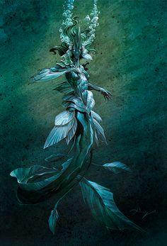 Animation, Concept Art, Models Sheets, etc. usuarios online All works published… Magical Creatures, Fantasy Creatures, Sea Creatures, Siren Mermaid, Mermaid Art, Vintage Mermaid, Scary Mermaid, Mermaid Paintings, Dark Fantasy