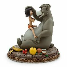 Disney Mowgli and Baloo Figure - The Jungle Book | Disney StoreMowgli and Baloo Figure - The Jungle Book - Look for The Bare Necessities in your own man-village when decorating with our Mowgli and Baloo big figure. This expressive collector's sculpture brings Walt Disney's animated classic The Jungle Book to three-dimensional life.