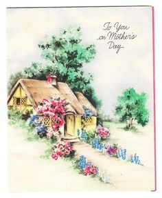 Hallmark Cottage Mother's Day Art Deco Greeting Card