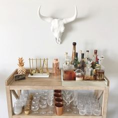 H O M E // Oh hey, Friday!👋🏻 It's time for a cocktail!🍸🍹🍾 Check out the blog for my BAR CART on a BUDGET post! I've found so many ah-mazing carts under $200!! Yassss please!🙋🏻 #SBKhome - S H O P // Download the @liketoknow.it to get ready-to-shop details immediately!!🛍🛍 // http://liketk.it/2rzuP @liketoknow.it.home #liketkit #LTKhome
