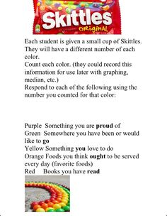 SKITTLES!! Fun activity to use on the first day of school!