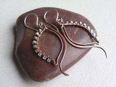 IMGP5677   Simple earrings made of copper and sterling silve…   Sylvie Pelletier   Flickr