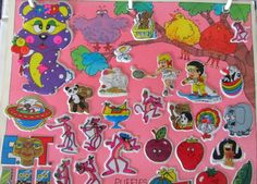 Puffy stickers!  I wish I still had my sticker albums to look at.