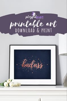 Printable Art, Printables, Modern Office Decor, Gold Office, Office Wall Art, Gold Art, Typography Art, Affordable Art, Rose Gold