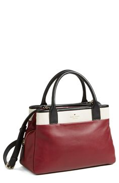 Timeless satchel for a pop of color