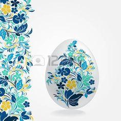 Pasqua modello di progettazione uova Archivio Fotografico