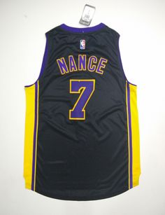 Los Angeles Lakers #7 Larry Nance Jr. Lakers Black jersey