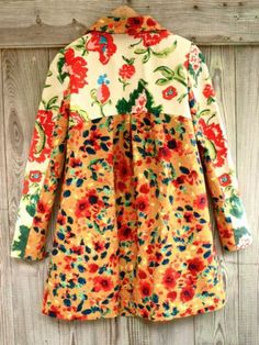 New Gorgeous Elevenses Leopardlily Anthropologie Floral Coat