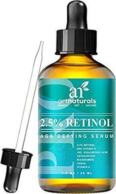 Art Naturals Sérum De Retinol 2,5 % Optimizado 30 ml Con 20 % De Vitamina C Y Ácido Hialurónico. El Mejor Sérum Antiarrugas Y Antienvejecimiento Para Rostro Y Pieles Sensibles. Ingredientes Orgánicos De Eficacia Clínica. Terapia De Noche