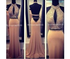 Champagne Prom DressLong Prom DressesBlue by DressProm20141, $143.00
