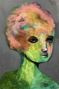 """Maleri av Kari Anne Marstein """"Nostalgi"""", 150x100 maleri"""